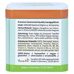 MATCHA Bio Premium Tencha Schattentee Pulver 50 Gramm - Rechte Seite