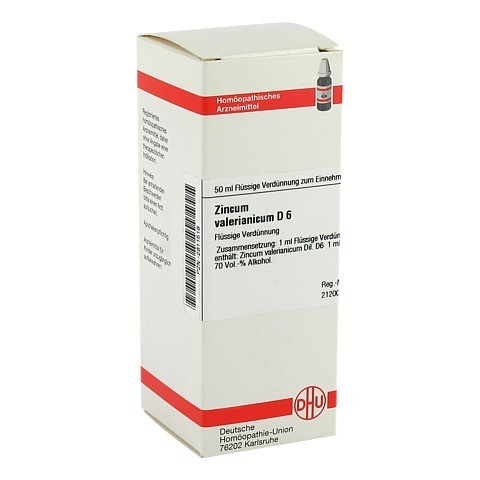ZINCUM VALERIANICUM D 6 Dilution 50 Milliliter N1