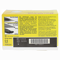 BERLIFINE micro Kan�len 0,25x8 mm 100 St�ck - R�ckseite