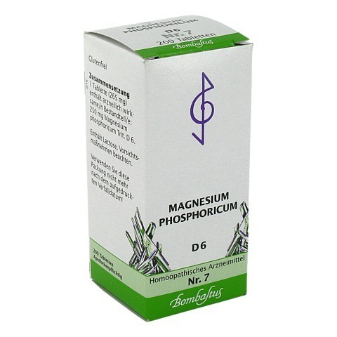 BIOCHEMIE 7 Magnesium phosphoricum D 6 Tabletten 200 St�ck N2