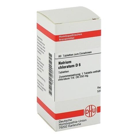 NATRIUM CHLORATUM D 6 Tabletten 80 Stück N1
