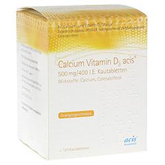 CALCIUM VITAMIN D3 acis 500 mg/400 I.E. Kautabl. 120 St�ck N3