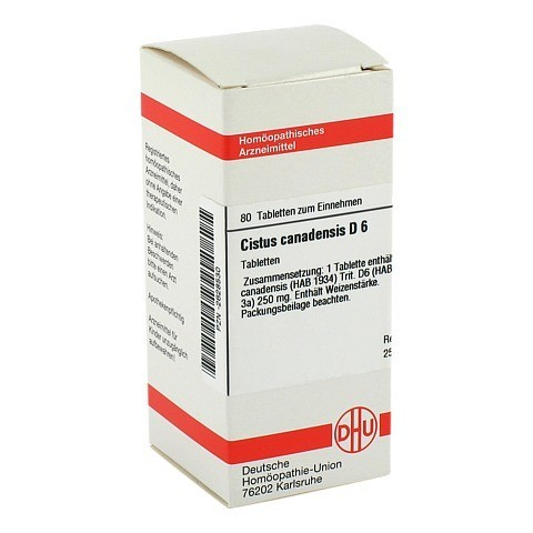 CISTUS CANADENSIS D 6 Tabletten 80 St�ck N1