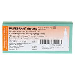 RUFEBRAN rheumo Ampullen 10 St�ck N1 - Vorderseite