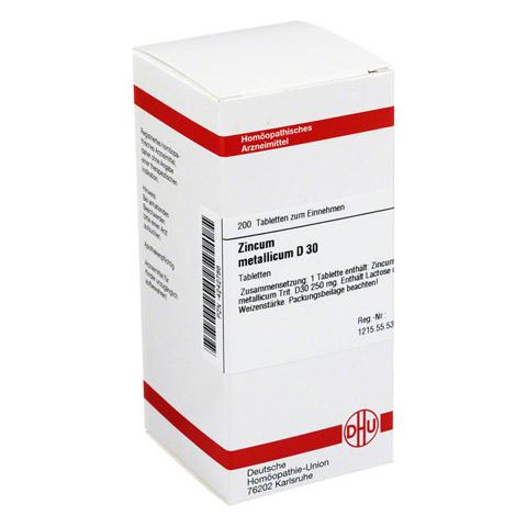 ZINCUM METALLICUM D 30 Tabletten 200 St�ck