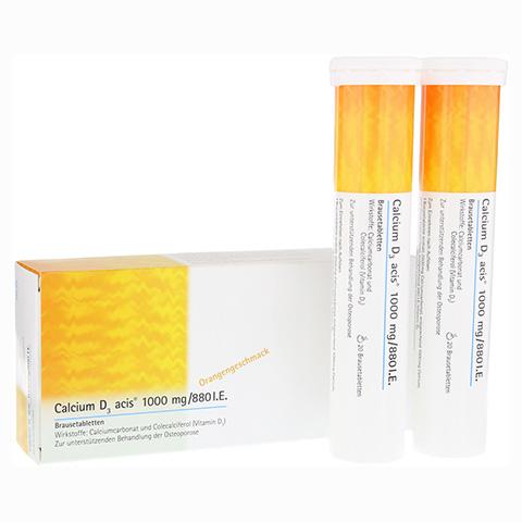 CALCIUM D3 acis 1000 mg/880 I.E. Brausetabletten 40 Stück