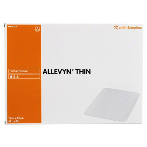 ALLEVYN Thin 15x20 cm d�nne Wundauflage 3 St�ck