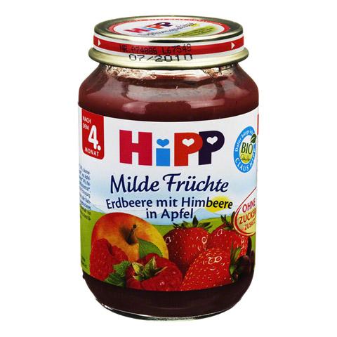 HIPP Früchte Himbeere m.Erdbeere in Apfel 190 Gramm