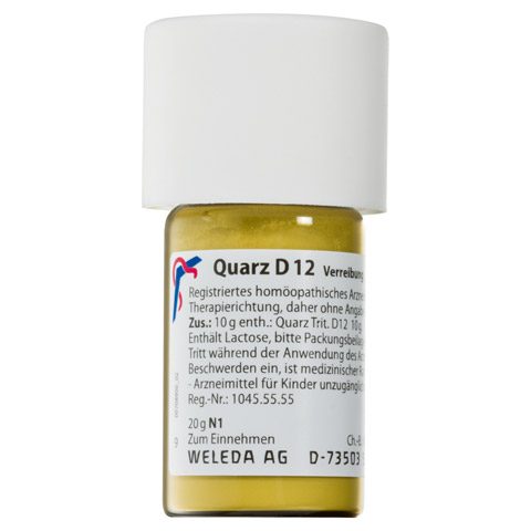 QUARZ D 12 Trituration 20 Gramm N1
