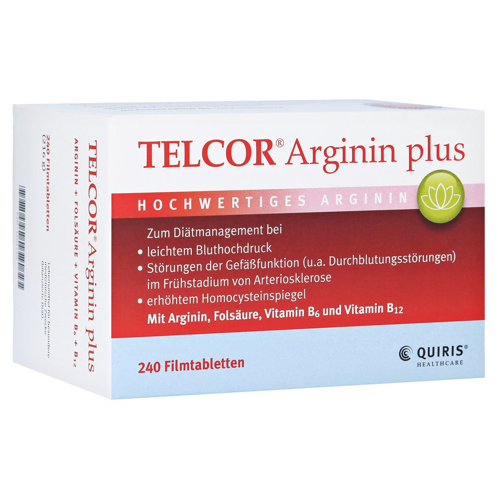 telcor arginin plus filmtabletten 240 st ck online. Black Bedroom Furniture Sets. Home Design Ideas
