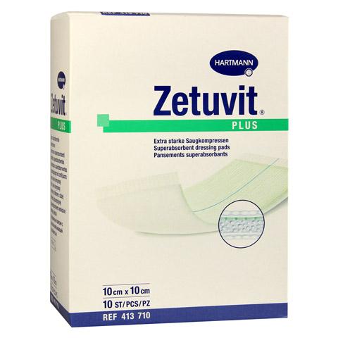 ZETUVIT Plus extrastarke Saugkomp.ster.10x10 cm 10 St�ck