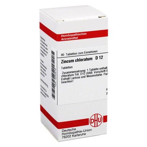 ZINCUM CHLORATUM D 12 Tabletten 80 Stück N1