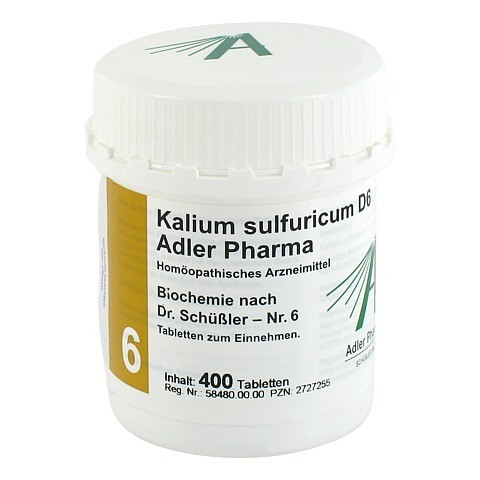 BIOCHEMIE Adler 6 Kalium sulfuricum D 6 Tabletten 400 St�ck