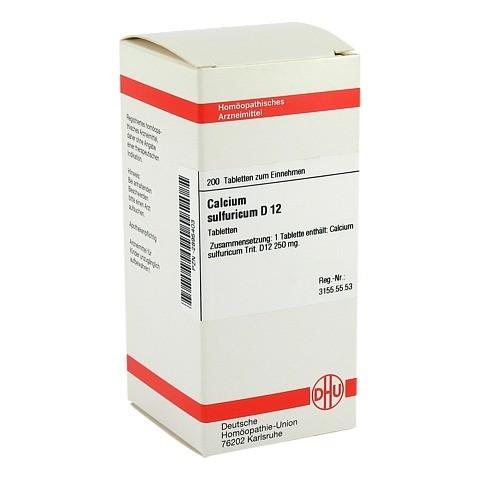 CALCIUM SULFURICUM D 12 Tabletten 200 St�ck N2