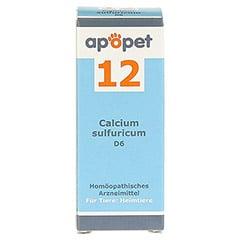 APOPET Sch��ler-Salz Nr.12 Calcium sulf.D 6 vet. 12 Gramm - Vorderseite