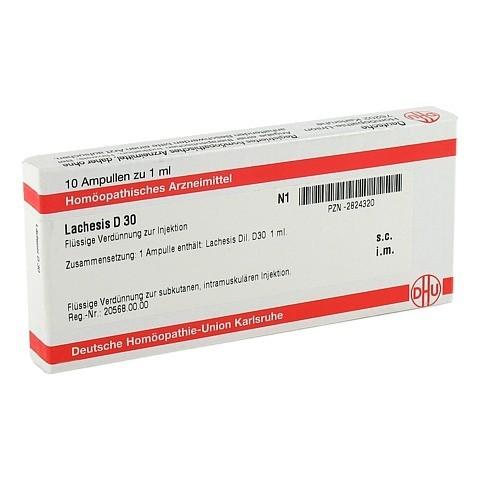 LACHESIS D 30 Ampullen 10x1 Milliliter N1