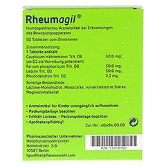 RHEUMAGIL Tabletten 50 Stück - Rückseite