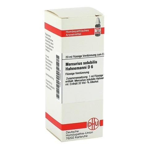 MERCURIUS SOLUBILIS D 6 Dilution Hahnemanni 20 Milliliter N1