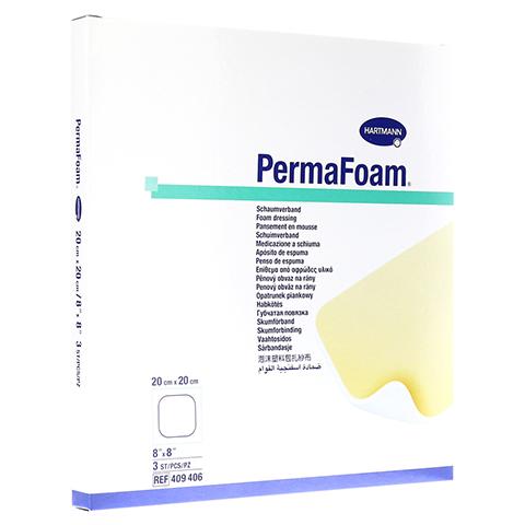 PERMAFOAM Schaumverband 20x20 cm 3 Stück