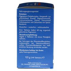 GRANDELAT MAG 60 MAGNESIUM Tabletten 240 Stück - Rechte Seite