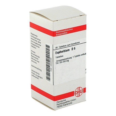 EUPHORBIUM D 6 Tabletten 80 Stück N1