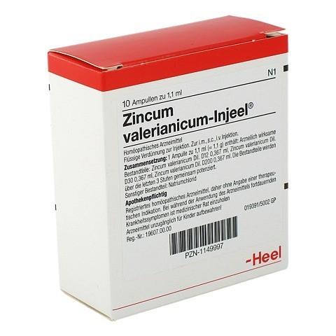 ZINCUM VALERIANICUM Injeel Ampullen 10 Stück N1