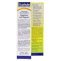 ZIRKULIN Vitamine u.Mineralst.f.Vegetarier+Veganer 20 St�ck - R�ckseite