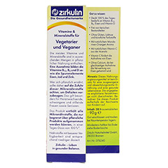 ZIRKULIN Vitamine u.Mineralst.f.Vegetarier+Veganer 20 Stück - Rückseite