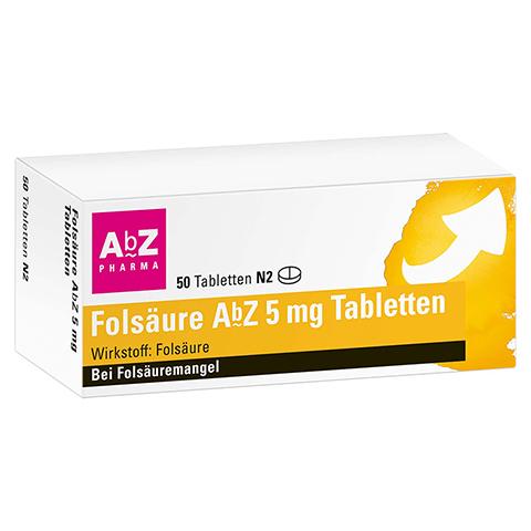 FOLSÄURE ABZ 5 mg Tabletten 50 Stück N2