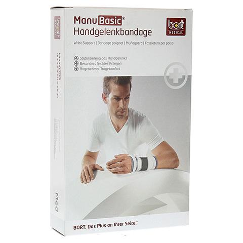 BORT ManuBasic Bandage rechts medium schwarz 1 Stück