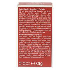 BIO CRANBERRY Vegi Kapseln 400 mg 60 Stück - Rückseite