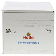 HOLLE Bio S�uglings Folgemilch 3 600 Gramm - Oberseite