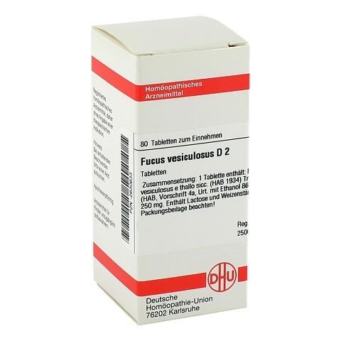 FUCUS VESICULOSUS D 2 Tabletten 80 Stück N1