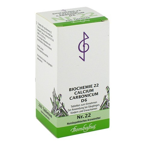 BIOCHEMIE 22 Calcium carbonicum D 6 Tabletten 200 Stück N2
