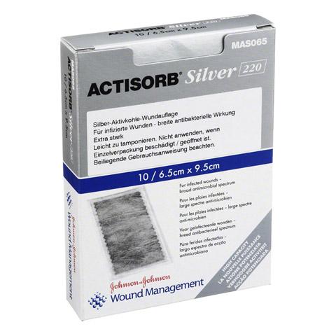 ACTISORB 220 Silver 9,5x6,5 cm steril Kompressen 10 St�ck