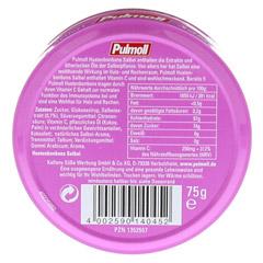 PULMOLL Salbei Bonbons 75 Gramm - R�ckseite