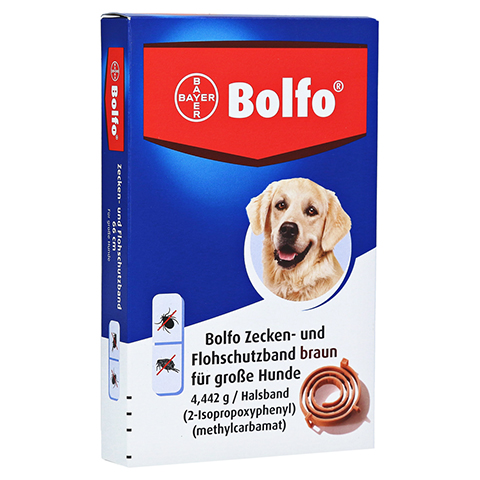 BOLFO Flohschutzband braun f.große Hunde 1 Stück