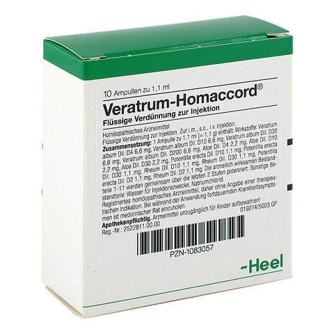 VERATRUM HOMACCORD Ampullen 10 Stück