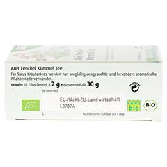 ANIS FENCHEL Kümmel Tee AFeKü Bio Salus Filterbtl. 15 Stück - Unterseite