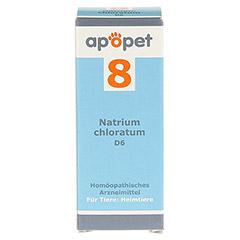 APOPET Schüßler-Salz Nr.8 Natrium chlor.D 6 vet. 12 Gramm - Vorderseite