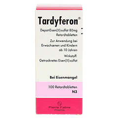 Tardyferon Depot-Eisen(II)-sulfat 80mg 100 Stück N3 - Vorderseite