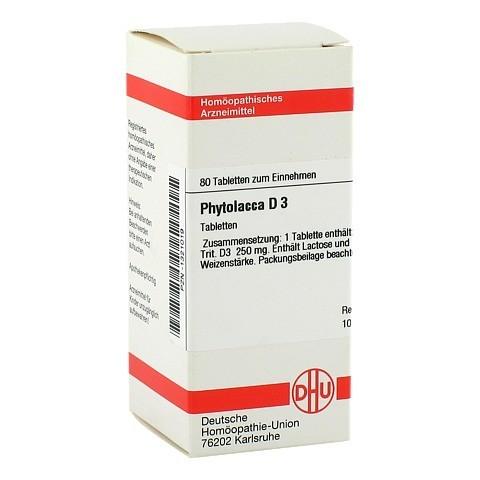 PHYTOLACCA D 3 Tabletten 80 St�ck N1