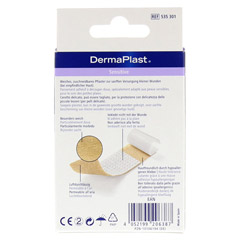 DERMAPLAST sensitive Pflaster 6x10 cm 10 Stück - Rückseite