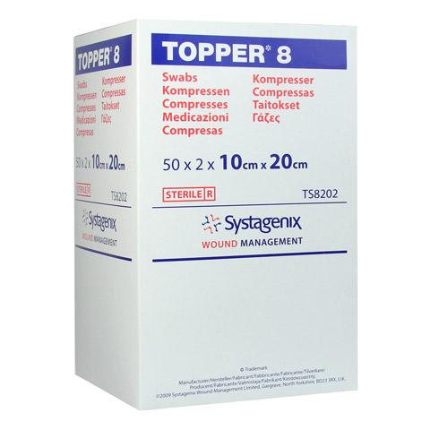 TOPPER 8 Kompr.10x20 cm steril 50x2 St�ck