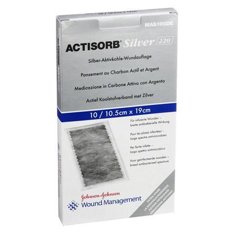 ACTISORB 220 Silver 10,5x19 cm steril Kompressen 10 Stück