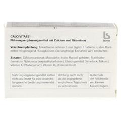 CALCIVITASE Calciumtabl 100 St�ck - R�ckseite