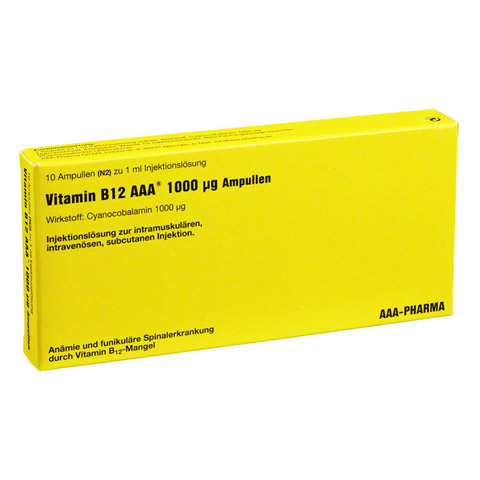 Vitamin B12 AAA 1.000 �g Ampullen 10x1 Milliliter N2