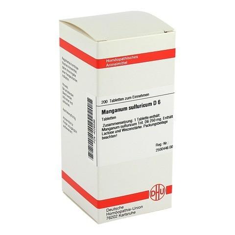 MANGANUM SULFURICUM D 6 Tabletten 200 Stück N2