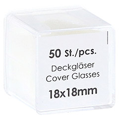 DECKGL�SER 18x18 mm 50 St�ck