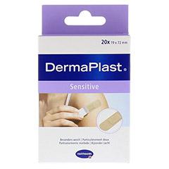 DERMAPLAST sensitive Pflasterstrips 19x72 mm 20 St�ck - Vorderseite